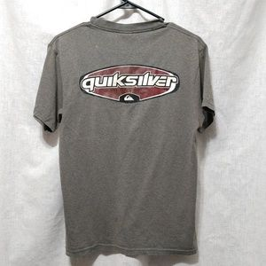 Quiksilver Gray Short Sleeve Graphic Logo Shirt